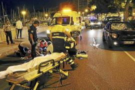 Herido grave al ser arrollado por un coche en el Passeig Marítim de Palma