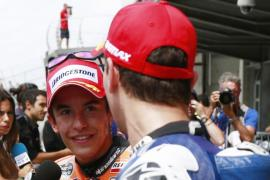 Márquez, pole por delante de Lorenzo y Pedrosa