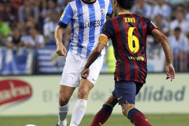 El Barcelona, sin Messi, sufrió al final ante un Málaga peleón