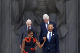 Obama rinde homenaje al discurso de Martin Luther King en su 50 aniversario