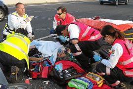 Hospitalizado en estado grave un motorista tras sufrir un accidente en la autopista de Inca