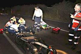 Muere un ciclista de 42 años al chocar de frente contra un motorista en el Camí de Can Pastilla