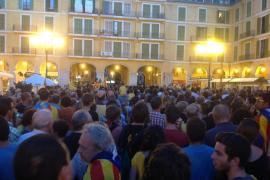 Más de 2.000 personas apoyan la Via Catalana en Palma