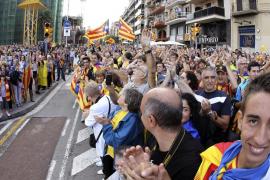 La cadena humana por la independencia de Catalunya congrega a 1,6 millones de personas
