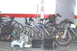 La Policía expondrá 170 bicicletas para devolver a sus dueños o donar a ONGs