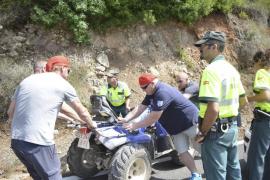 Un hombre de 72 años muere en un accidente de quad en Andratx