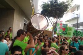 Huelga de educación en Eivissa