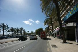 El PSIB quiere que no se puedan superar los 50Km/h en el Paseo Marítimo de Palma
