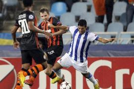 0-2. La Real puso el juego y Teixeira los goles para la victoria del Shakhtar