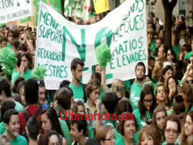 La 'marea verde' vuelve al Parlament