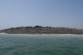 Un islote emerge en Pakistán tras un terremoto