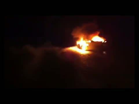 Incendiada y hundida una embarcación de 21 metros de eslora en Formentera