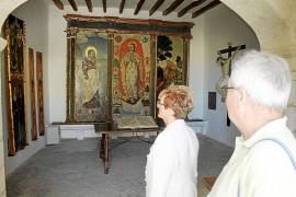 Pinturas y cerámicas del monasterio de Sant Bartomeu, al descubierto