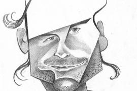 Caricatura del tenista Carlos Mayo.