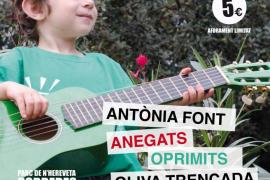 Antònia Font, Anegats, Oprimits, Oliva Trencada, Tiu y La GOR: concierto solidario con los maestros