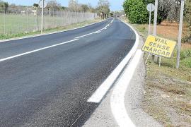 El Consell invierte 350.000 euros en mejorar el asfaltado de la carretera Algaida-Sineu
