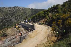 Inminente apertura de un carril en la carretera Andratx-Estellencs