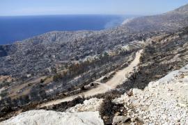 La recuperación de la zona de la Serra Tramuntana calcinada cuesta 2,5 millones