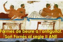 'Formas de beber en la antigüedad' y cata de vinos de Mallorca