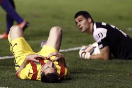 El Barcelona se deja dos puntos en el Sadar y no iguala su récord de victorias