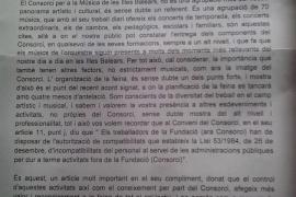 Advierten a la Simfònica de que no tiene autorización para el concierto contra el TIL