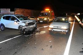 Un conductor ebrio sufre un accidente «por amor» en la carretera vieja de Sineu