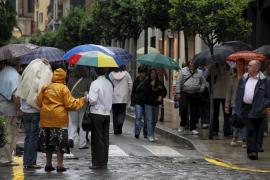 Decretada la alerta amarilla para mañana por lluvias en Baleares