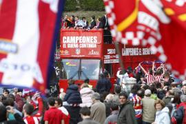 El Atlético de Madrid es aclamado en Neptuno