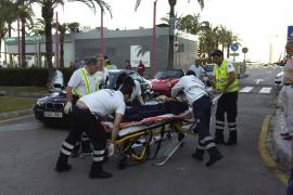 Un ciclista resulta atropellado por un coche en el carril bici en Palma