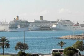 El puerto de Palma batió ayer el récord del año en tonelaje de cruceros