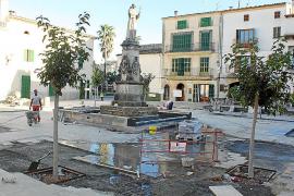 Petra estrenará en quince días la reformada plaza de Juníper Serra
