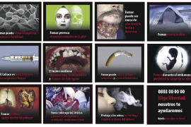 Sanidad incorpora imágenes altamente disuasorias contra el tabaquismo