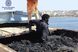 Cruzar el Estrecho en un contenedor de basura