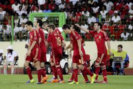 España vence a medio gas en plena fiesta de Guinea Ecuatorial