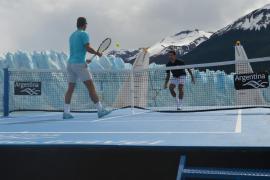 Nadal y Djokovic jugaron al tenis en el glaciar argentino Perito Moreno