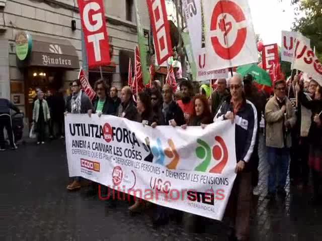 La Cimera Social se manifiesta en Palma para defender las pensiones bajo el lema 'Utiliza tu fuerza'