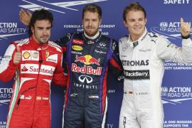 Vettel se hace con la última 'pole' de la temporada y Alonso saldrá tercero