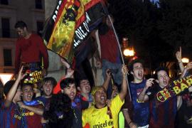 La Plaza de las Tortugas, con el Barça