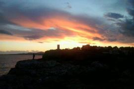 Puesta de sol en Porto Cristo