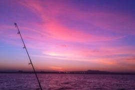 Amanecer en alta mar