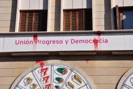 UPyD denuncia actos vandálicos contra su sede en Palma