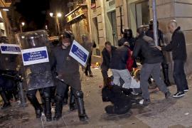 La celebración por la victoria del Barça termina con una «batalla campal» con 104 detenidos