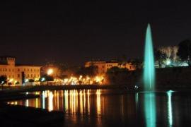 Parc de la mar de Palma de noche