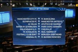 City-FC Barcelona, Milan-Atlético y Schalke-Real Madrid, en octavos de Champions