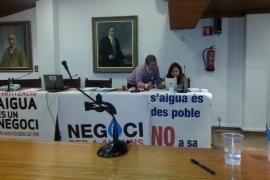 Encierro de la oposición de Inca contra la privatización del agua