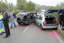 Cuatro heridos en una colisión de vehículos en la carretera de Esporles