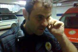 El policía de Santa Eulària pide disculpas por el vídeo y dice que era una «broma»