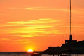 Puesta de sol en el Port de Sóller