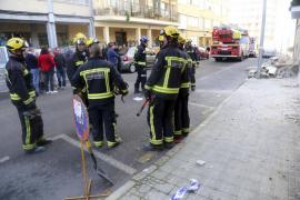 Derrumbe sin heridos de la terraza de una vivienda en s'Arenal