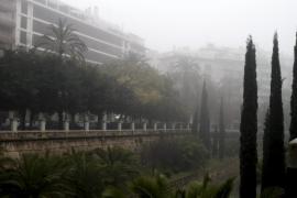 Palma amanece envuelta en la niebla